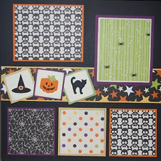 #papercraft #Halloween #scrapbook #layout Check out PaperCraftersCorner.com for lots of scary-good Halloween papercraft ideas and giveaways!