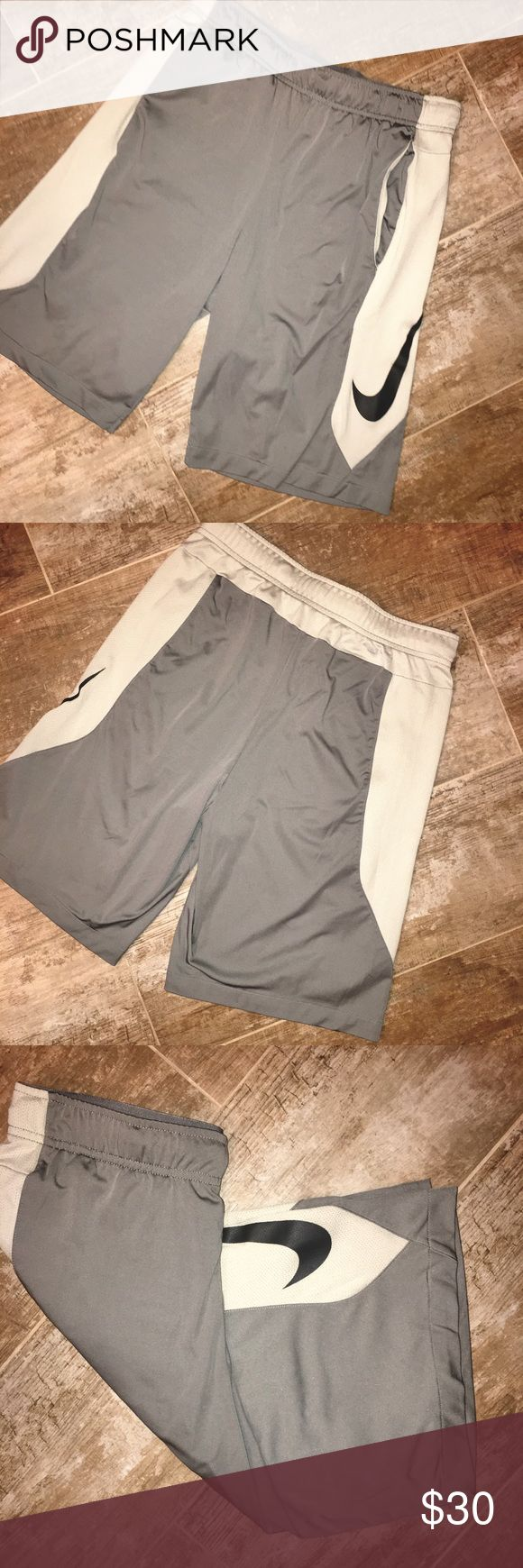 Nike Dri Fit Men's Gray Athletic Shorts Size S Nike Dri Fit Men's Gray Athletic Shorts Size S - *Worn Couple Of Times* - Front Pockets Nike Shorts Athletic