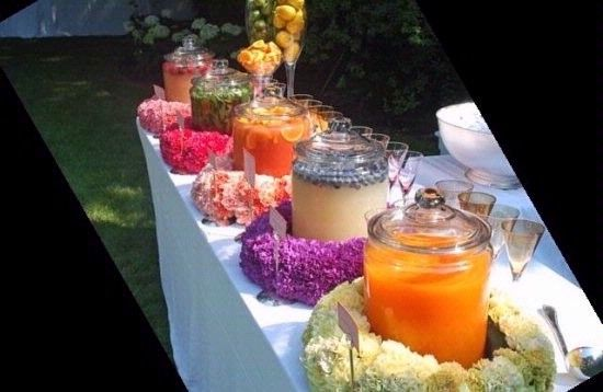Fun summer drink station!