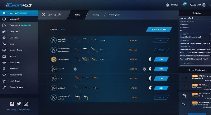 List of nearly all new CSGO gambling sites. Coinflip, Roulette, Slots, Jackpot, Match betting and many others. Free coins, bonus promo codes. Try your luck! http://csgobet.click/