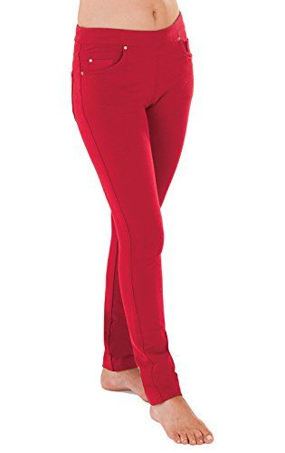 PajamaJeans - Skinny Red Stretch Knit Denim Jeans for Women, MED (10-12) -- More details @ http://www.amazon.com/gp/product/B00Q3LV90K/?tag=clothing8888-20&pcd=170816140949