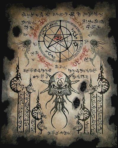 Necronomicon Fragment 039 <br>Eine erhaltene Seite aus dem originalen Werk des verrückten Arabers Abdul Alhazred - Replikate aus dem Cthulhu Mythos von verschiedenen Künstlern geschaffen.
