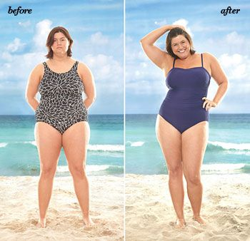If you want to flatter your curves… Don't run from stripes. Just be sure they're vertical or angled across your body.  Don't say no to bikinis. Just avoid thin string ties, which can dig and create bulges.  Do try a wrap style if you have a thick middle—it's a waist whittler!