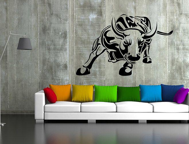 kik61 Wall Decal Sticker pet bull hall bedroom