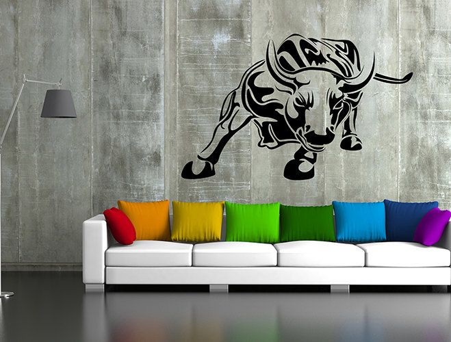 kik61 Wall Decal Sticker pet bull hall bedroom