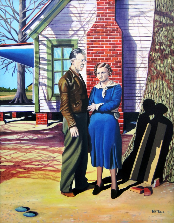 Purvis and Carlotta: Love and Marriage. N Lee Ball. In the NC State Fair juried Professionals art show, 2012. Very cool!