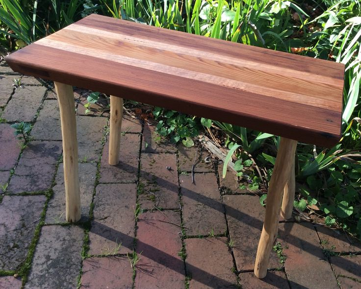 Small side table by Graeme Henchel. Made from reclaimed Cedar door and Mountain Ash.
