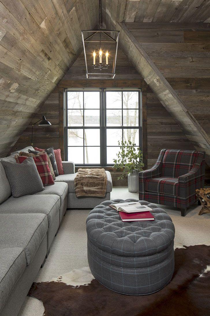 Прекрасный дом из дерева и камня для отдыха семьи в США | Пуфик - блог о дизайне интерьера