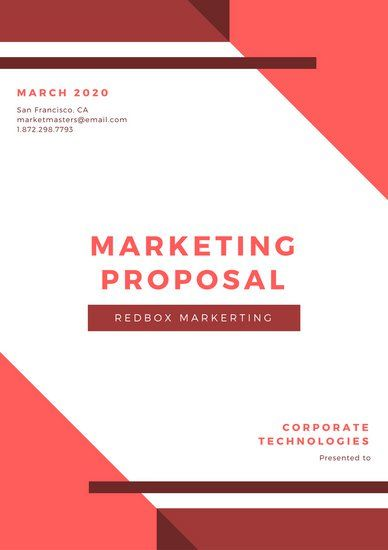 Red and White Geometric Marketing Proposal ideas Pinterest