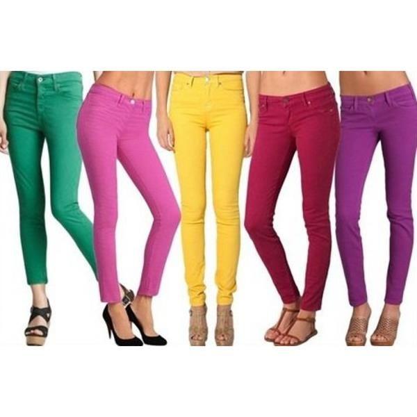 Цветные узкие джинсы 36 размер