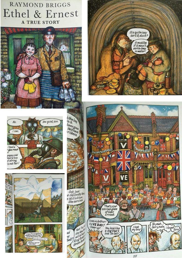 Raymond Briggs - Ethel and Ernest  Illustration style idea?