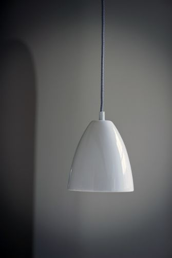 Chalky White Ceramic Ceiling Light with Ceiling Rose 16 dia x 18 £60 rockett st george