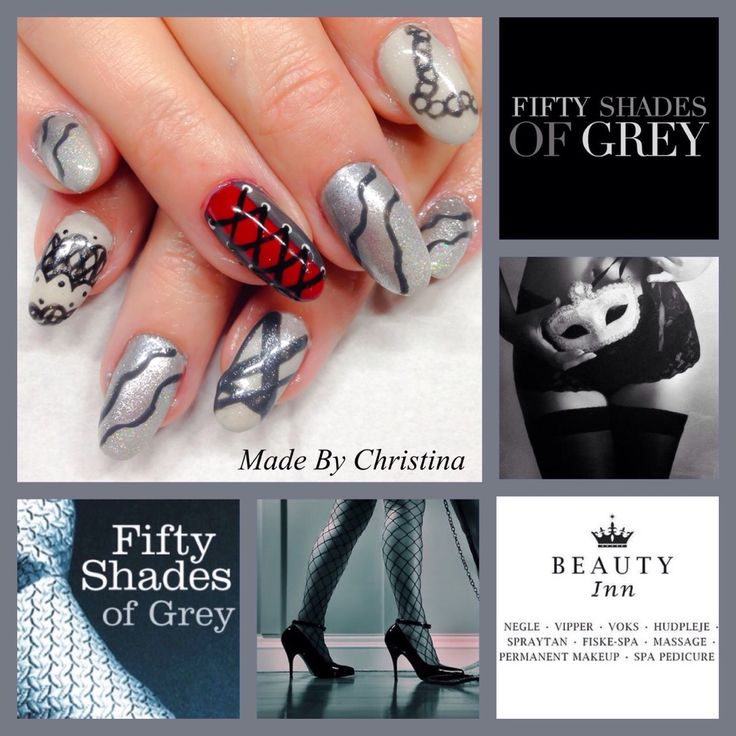 Nails for Fifty shades of Grey-movie by Christina from beautyinn.dk