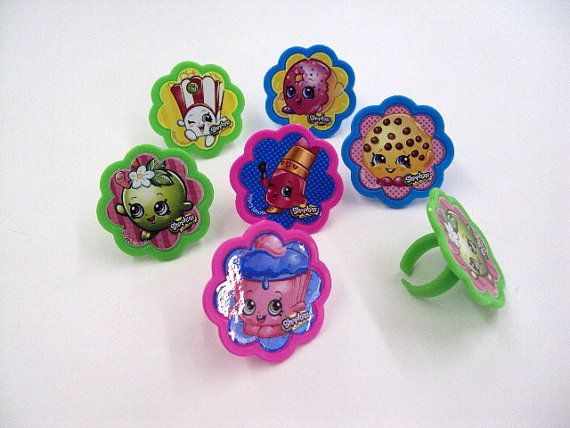 Shopkins Rings by JudysPartyShop on Etsy