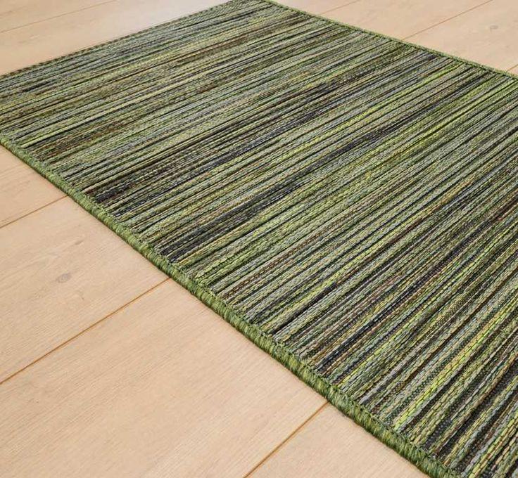 Brighton Flatweave 98122/4000 Green Runner Rugs | Modern Rugs