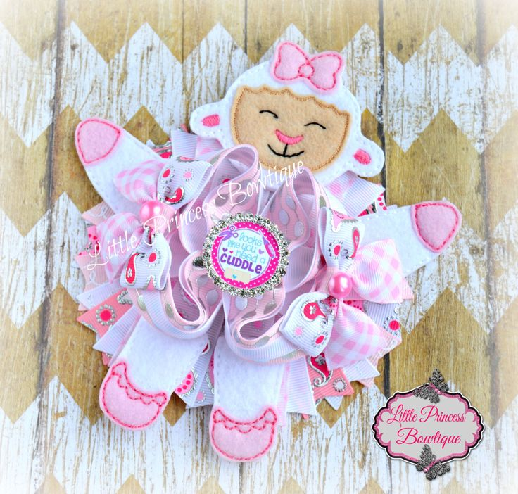 Hair Bow, Lamb Hair Bow by LilPrincessBowtique8 on Etsy