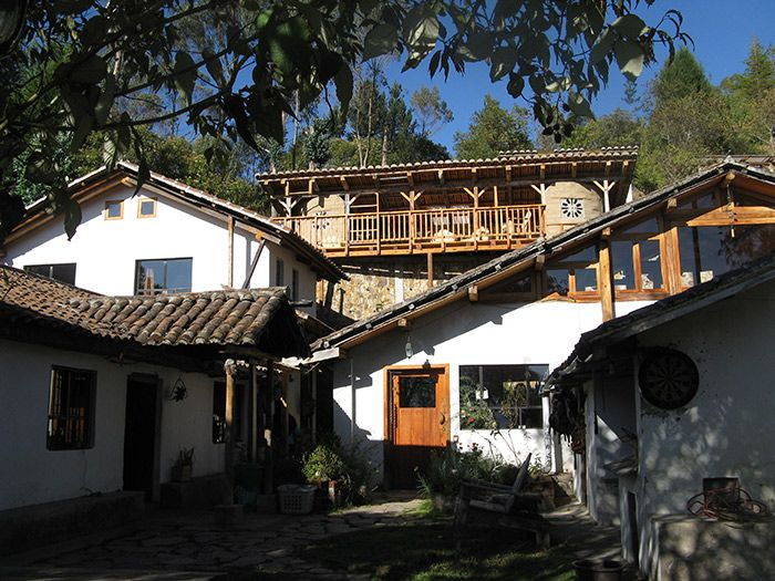 Black Sheep Inn: sloped roofs, multi levels, and of course white