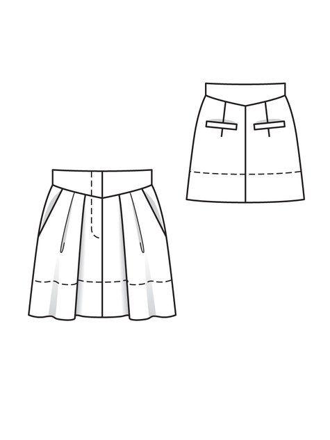 Mini Pleated Skirt 05/2012 burda