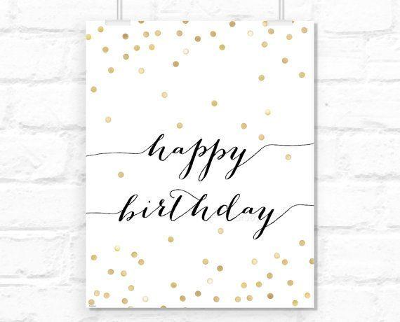 Alles Gute zum Geburtstag Zeichen druckbare: Typog…