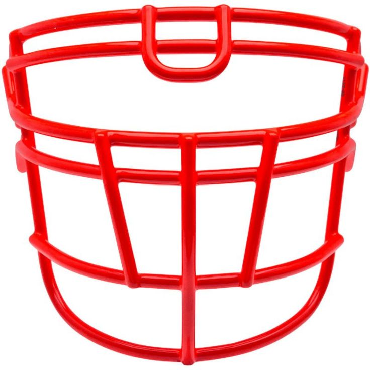 Schutt Varsity Super-Pro Rjop-UB-DW Titanium Football Facemask, Red