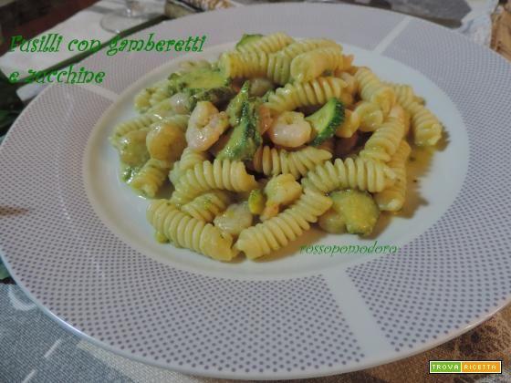 Fusilli con gamberetti e zucchine  #ricette #food #recipes