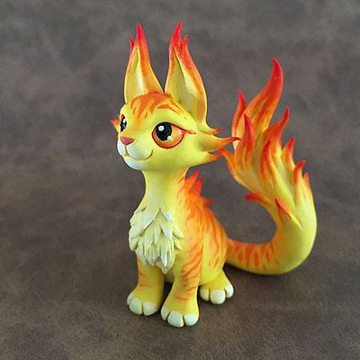 Ember-Cat-Sculpture-by-Dragons-and-Beasties