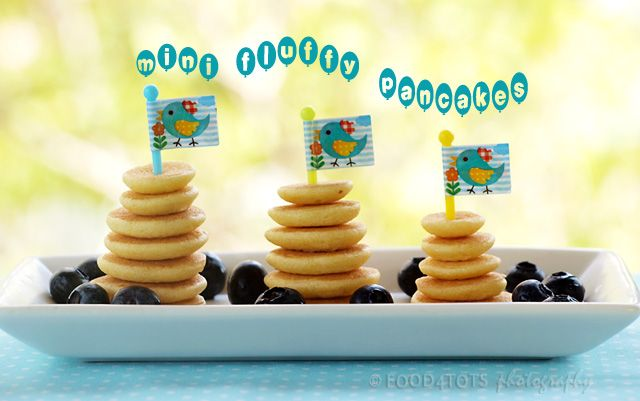 Mini Fluffy Pancakes by food-4tots: Fun to eat and so easy to make. #Pancakes #Mini #food_4tots