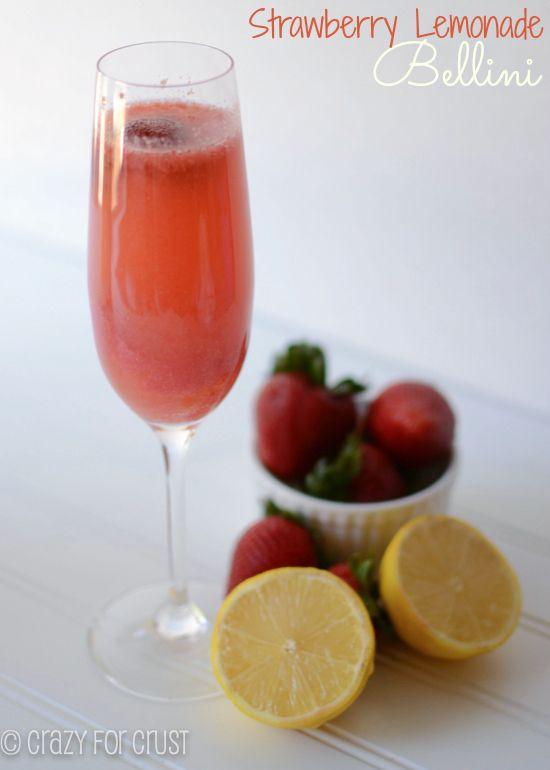 Strawberry Lemon Bellini by crazyforcrust.com
