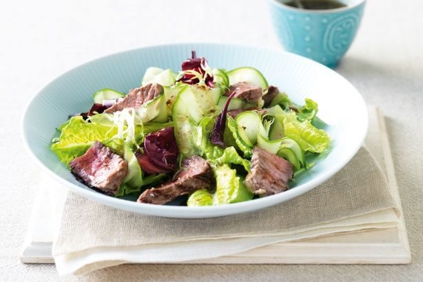 Beef cucumber salad