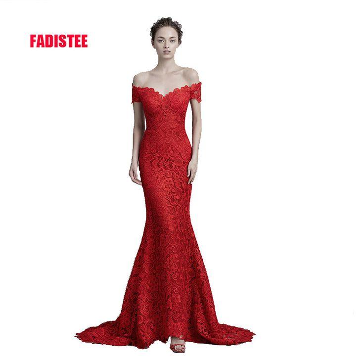 New arrival elegant Prom party Dresses lace Vestido de Festa mermaid long sweep train dress free shipping