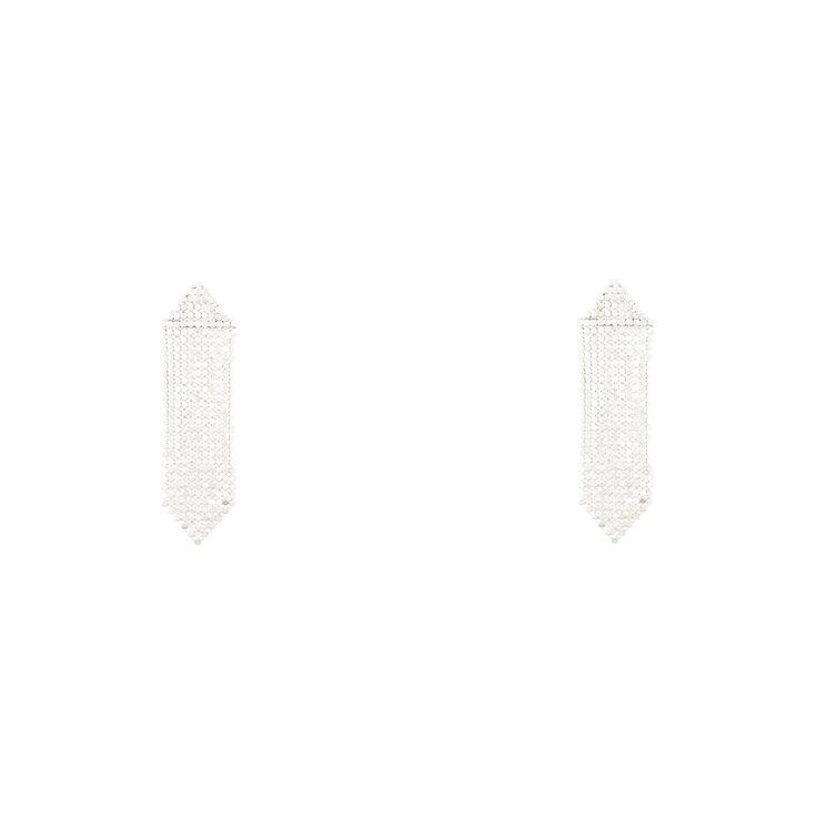 """""""Silver Mesh"""" Earrings"""