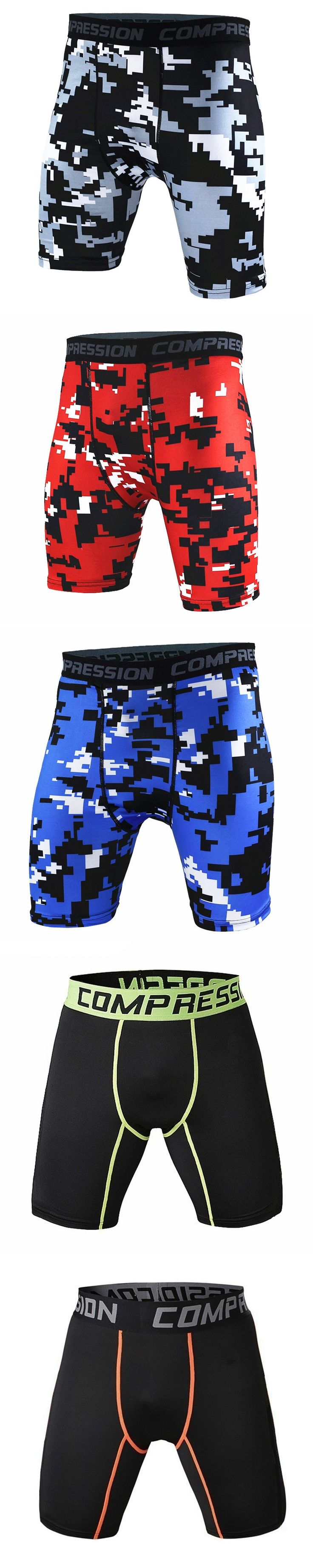 New Running Sport Mens Basketball Tight Compression Shorts Gym Fitness Clothing Training Wicking Short Pants Homme Men
