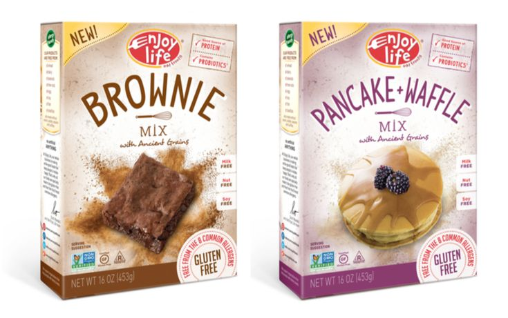 Enjoy Life Launches New Baking Mix and Flour Line: Pancake/Waffle Mix, Pizza Crust Mix, Brownie Mix, Muffin Mix and All-Purpose Flour varieties!