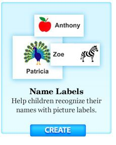 free personalized printable labels for bookplates, kids' names, etc.