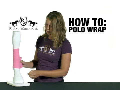 How To Correctly Polo Wrap Your Horse's Legs - YouTube