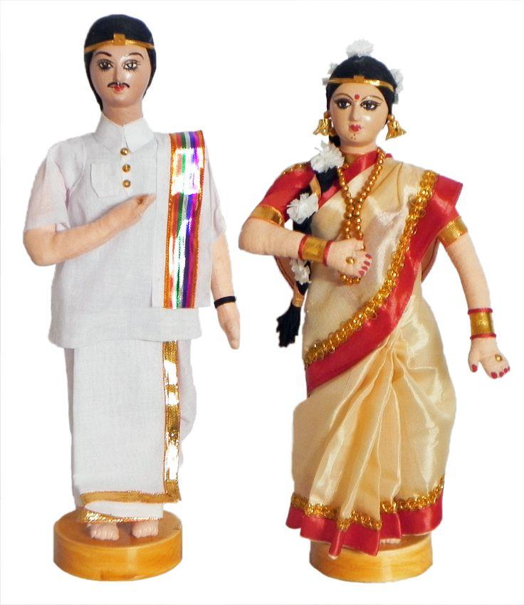 A southindia couple - hand made home decor