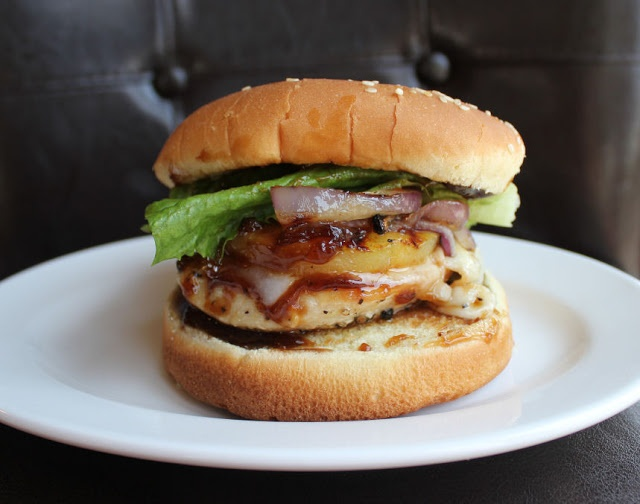 Grilled Teriyaki Chicken And Pineapple Sandwich Recipe — Dishmaps