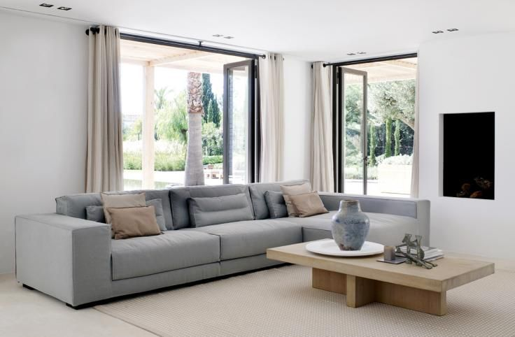soft pale grey palette for a contemporary living room - south coast villa, portugal - Piet Boon