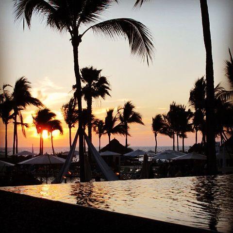 Atardecer en Hard Rock hotel, Puerto Vallarta, México