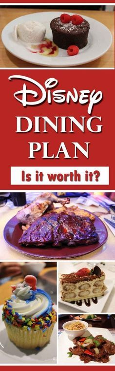 The Disney Dining Plan - is it worth it? See what is included in the Disney Dining Plan and see whether buying the Disney Dining Plan is the right thing for your vacation. Hints and Hacks, Tips and Tricks to getting the very best of your vacation to Disney World, Florida, USA. Food pictures and links to menus. Getting the best value from the Disney Dining Plan.