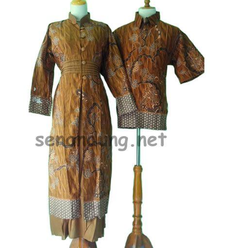 gamis batik sarimbit kuning