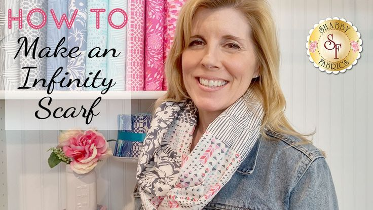 How to make a Fat Quarter Infinity Scarf | with Jennifer Bosworth of Sha...