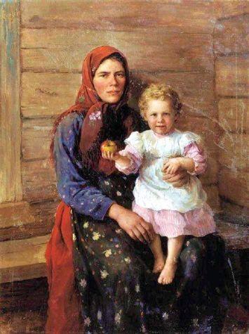 Fedor Vasilievich Sychkov   Nyanya, The Artist's Sister