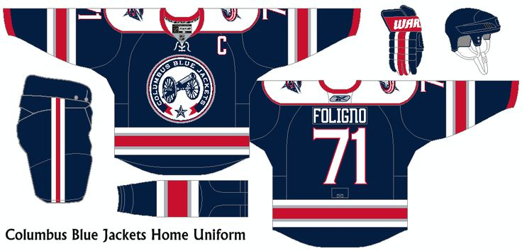 New Uniform idea for the Columbus Blue Jackets using the new ...