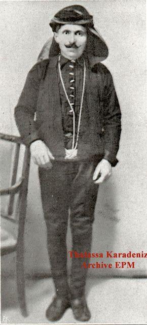 Portrait of a Greek (Pontos) man from the Giresun-Trabzon region.  Early 20th century.