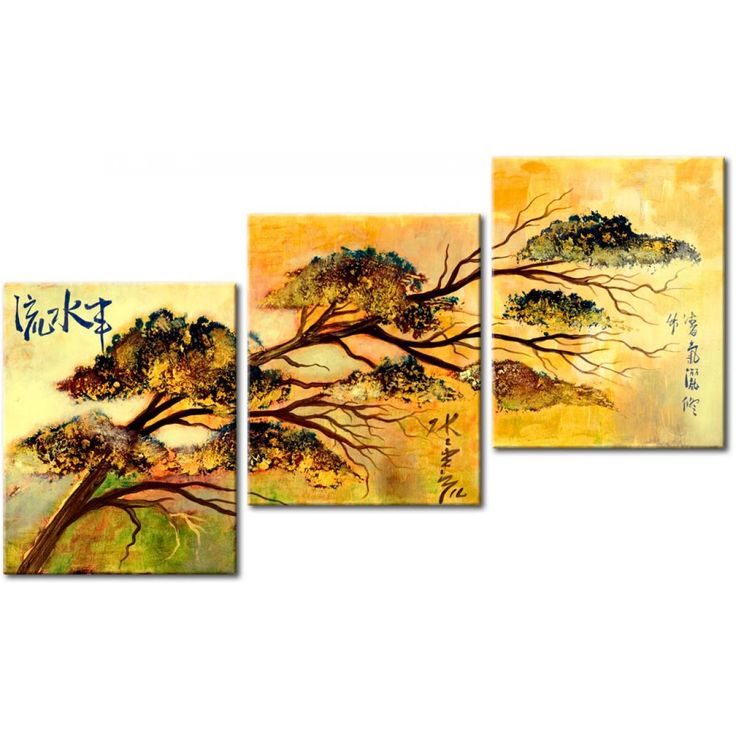Obraz ręcznie malowany w orientalnym stylu w galerii Artgeist #obraz #obrazręczniemalowany #obrazmalowany #homedecor #orient #orientalny #azja