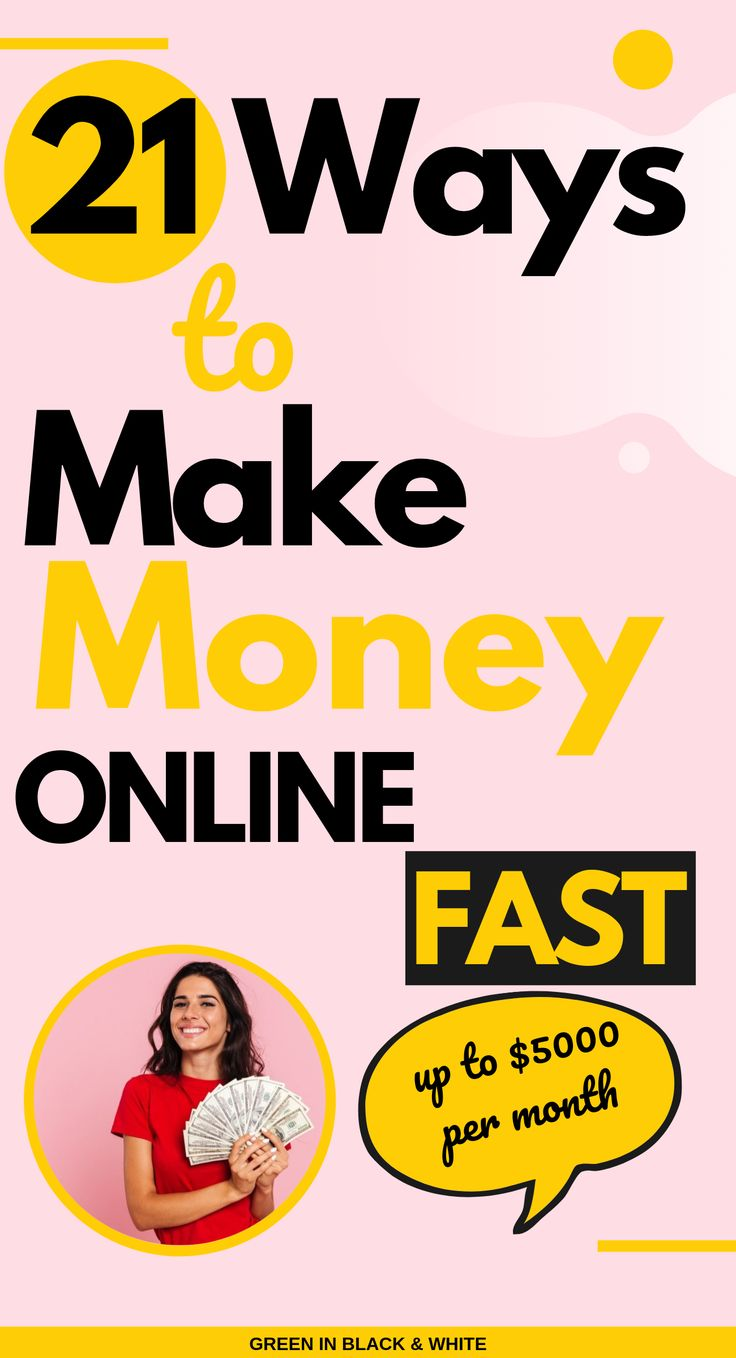 Here's 21 creative ways to make money online. This post provides a bunch of meth… – Creative Ways to Make Money