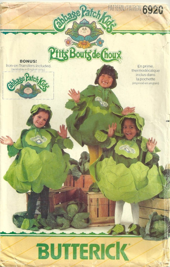 Butterick 6920 1980s  Boys and Girls Cabbage Patch Kids Costume by mbchills