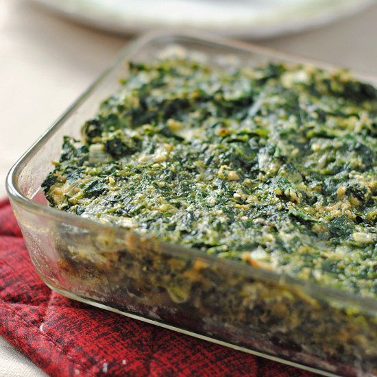 Spinach kugel is a perfect side dish for your Passover seder table or for Spring.