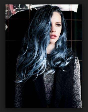 Siyah Saç Gümüş Ombre Modeli